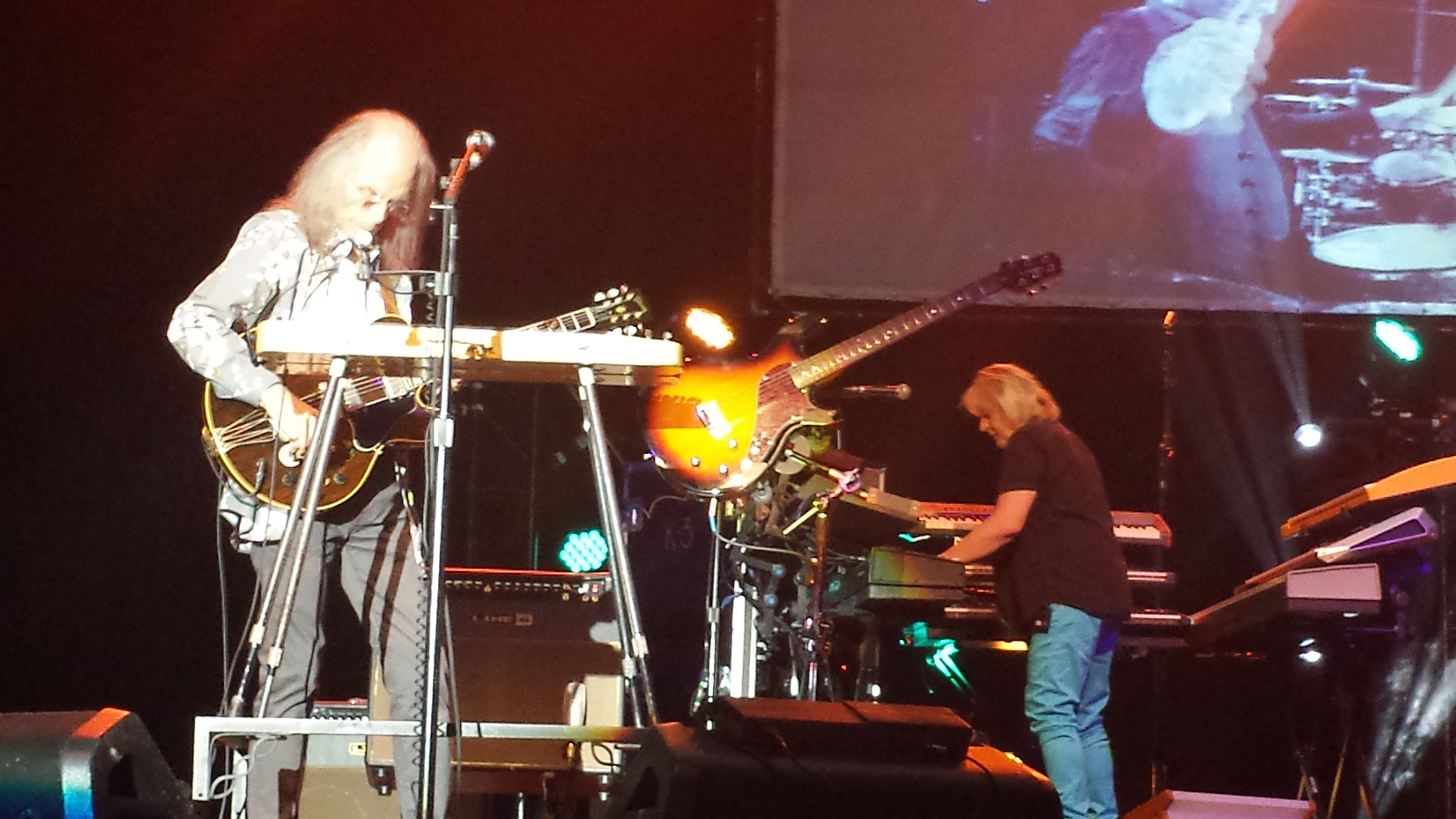 YES a PADOVA 17/05/2014 - Steve Howe e Geoff Downes (foto di Saura Terenziani)