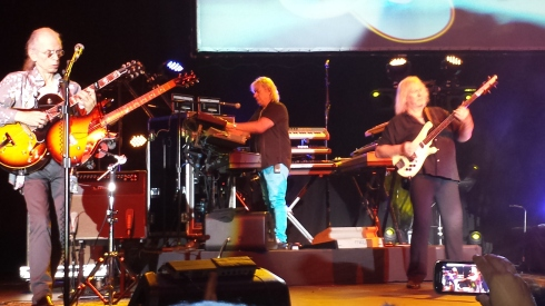 YES A PADOVA 17/05/2014: STEVE HOWE, GEOFF DOWNES, CHRIS SQUIRE  - (foto di Saura Terenziani)