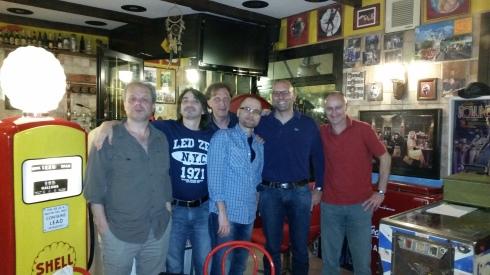 Illuminati del blues, da sx a dx: Picca, Tim. Liso, jaypee, Lorenzo Stevens, Francesco P.