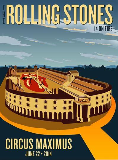 Rolling Stones Circo Massimo Roma Locandina 22-06-2014