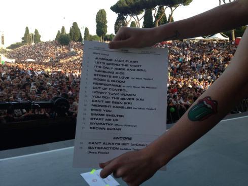 Rolling Stones Circo Massimo Roma scaletta 22-06-2014