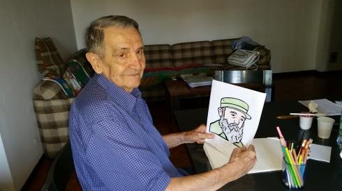 Brian colora il faccione di Fidel