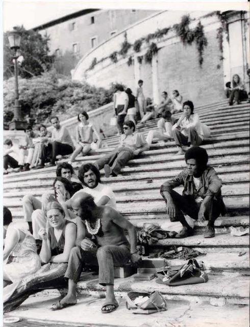 Piazza di Spagna anni sessanta di Victor Peraino