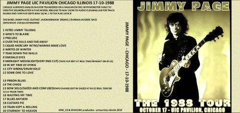 Jimmy Page Chicago 17 oct 1988 artwork