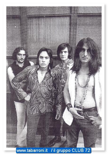 il gruppo CLUB 72 di Renato Tabarroni con Ricky Portera alla chitarra