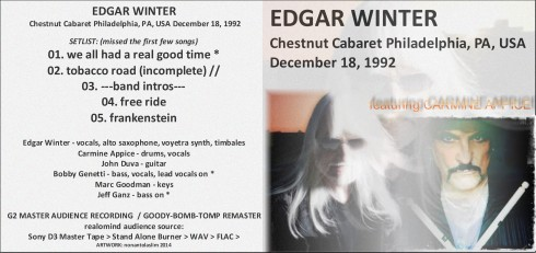 Edgar Winter Philadelphia 1992