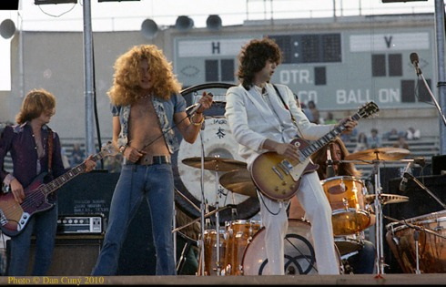 LZ San Francisco Kezar Stadium 02/06/1973 (photo Dan Cuny)
