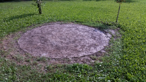 L'impronta dell'Ufo alla domus saurea - foto TT