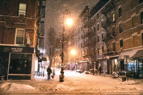 Snowfall in NY