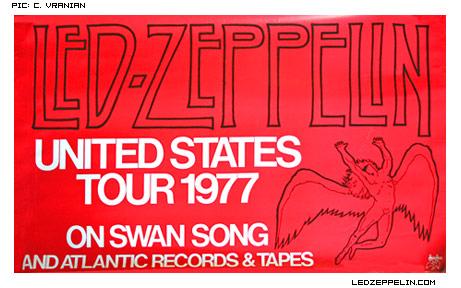 Led Zep 1977 tour ad