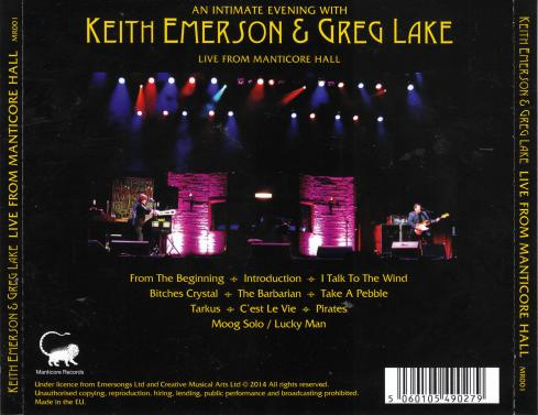 emerson lake live from manticore hall b