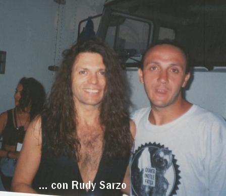 Gianni con Rudy Sarzo