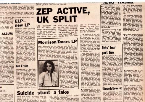 Melody Maker 11 november 1978