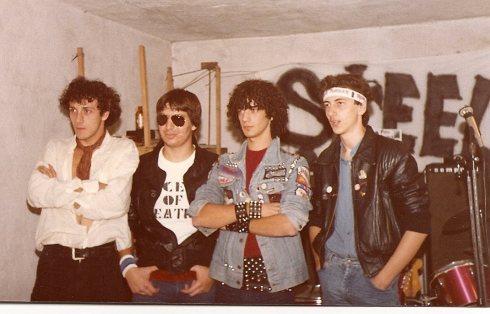 STEEL THUNDER nel 1981 (poi EXILE), Gianni (il cantante) è il primo a sinistra.