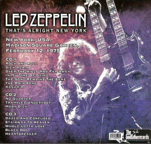LZ That's Alright New York -NY 12feb 1975