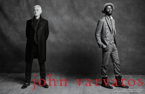 Jimmy Page & Gary Clark Jr for John Varvatos