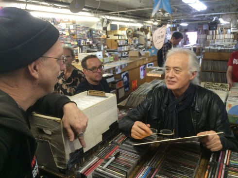 Jimmy Page - vinyl shopping 2014