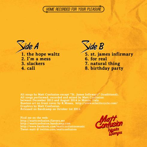 Matt Confusion - Satori, Take Me Away - back