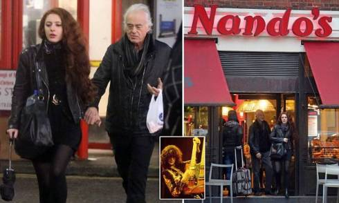 Jimmy Page and girlfriend