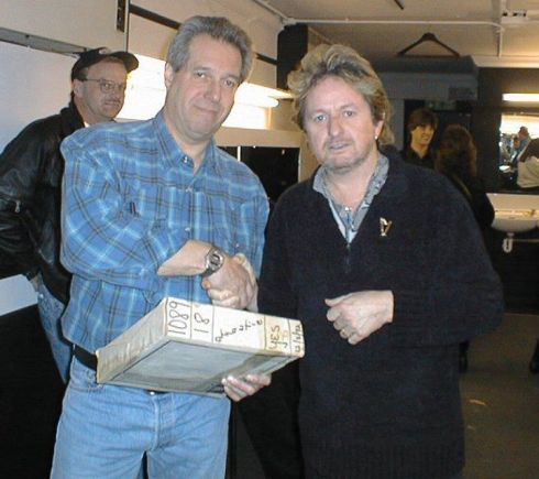 Jon Anderson and one of the boxes