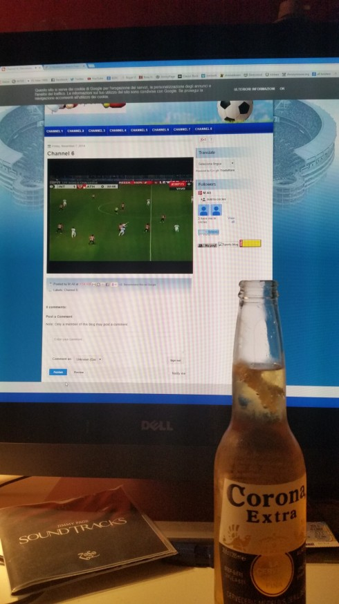 Hot summer (lonely) nights series: alone at home, 32 ° degrees celsius, a cold Corona cerveza, watching the friendly game INTER - ATHLETIC BILBAO...  I guess that's why whey call It the Blues - photo TT