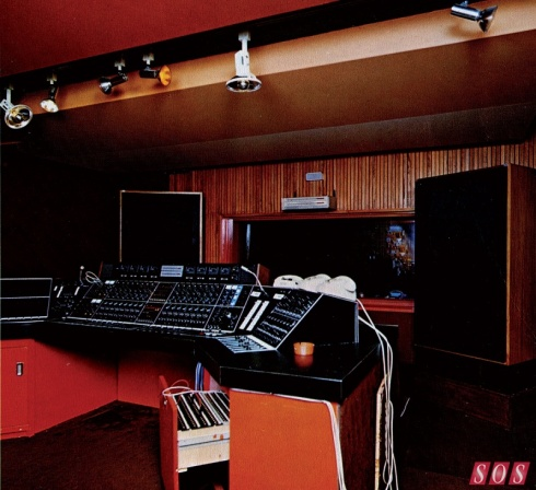 Control Room  - Musicland Studios in the 70s - Munich