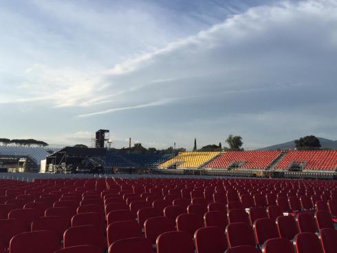 DAVID GILMOUR, Firenze, Ippodromo del Visarno, 15-9-2015 (photo DG facebook page)