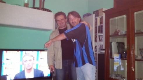 il Mancio, Biccio & Tim dopo il derby INTER-MILAN 1-0 (photo Picca)