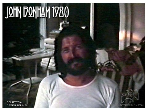 John Bonham fotograto pochi giorni prima di morire - photo courtesy of Jason Bonham