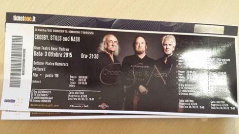 CSN Biglietto Padova 2015