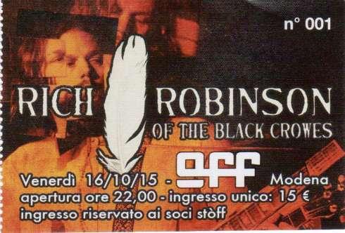 Ticket Rich Robinson