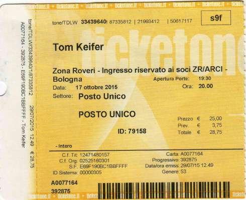 Tom Keifer Bologna 17/10/2015