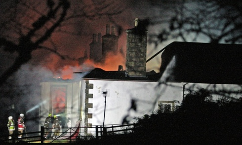Boleskine House - Burning down