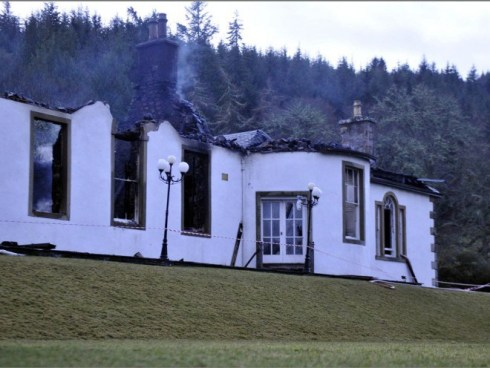 Boleskine House burning down