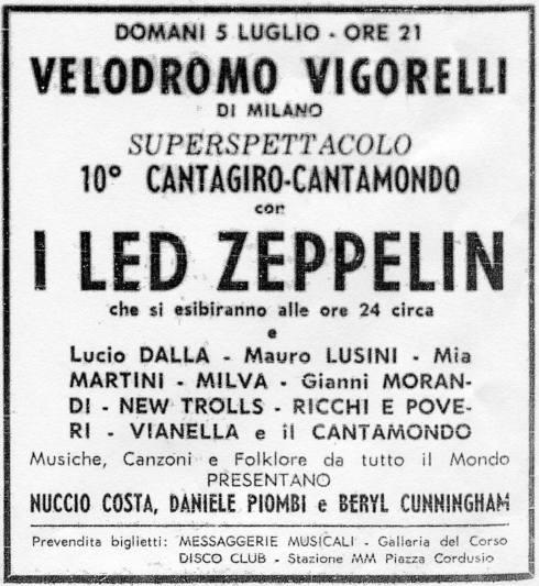 Zep locandina Vigorelli 1971