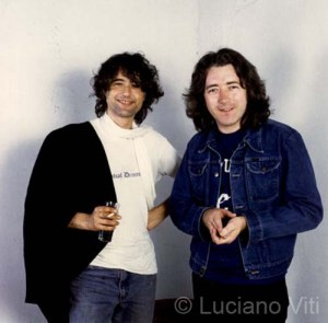 Jimmy Page & Rory Gallagher Pistoia 1984 - photo Luciano Viti
