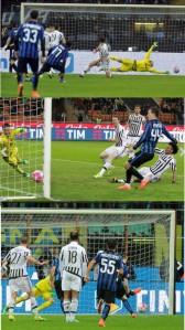 Inter Juve 3-0 (foto Corriere della Sera)