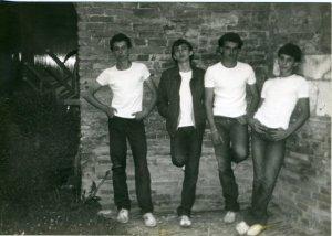 The Strangers 1979 - Marcel, Tim, Biccio, Mario