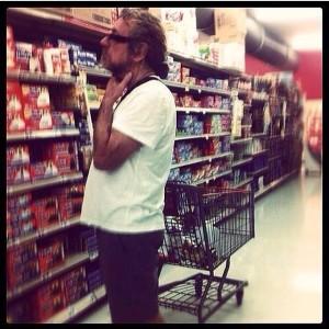 Robert Plant al supermercato