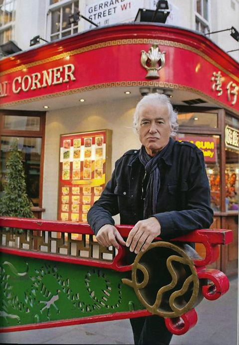 Jimmy Page in Gerrard Street - photo Ross Halfin