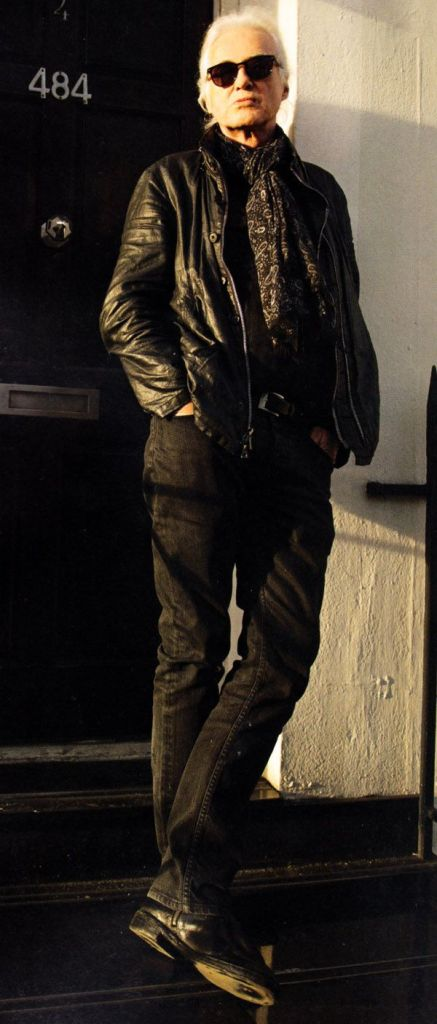 Jimmy Page in Kings Road - Photo Ross Halfin