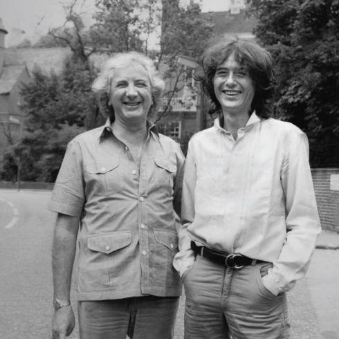 Michale Winner & Jimmy Page - London 1982