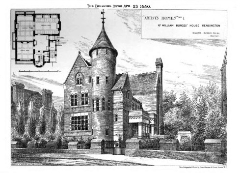 La Tower House nel 1878