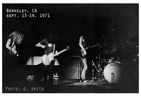 Led Zeppelin, Berkeley sept 1971