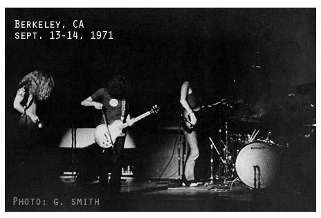 Led Zeppelin, Berkeley sept 1971