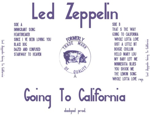 Led Zep Going To Ca Berkeley 14-9-1971 DADGAD productions