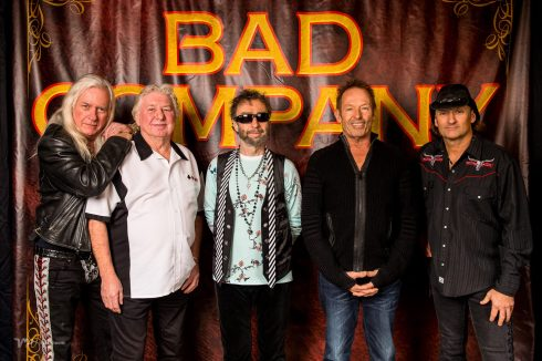 BAD COMPANY UK TOUR 2016 - Howard Leese, Mick Ralphs, Paul Rodgers, Simon Kirke and Todd Ronning.
