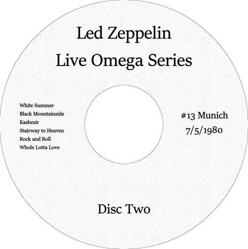 Led Zeppelin Live Omega 13 Munich 5 july 1980 Winston Remaster