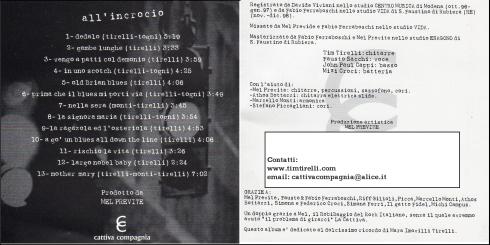 CATTIVA COMPAGNIA All'Incrocio 1999 interno