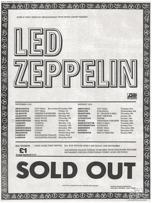 Led Zeppelin 19772_uk tour_soldout_ad